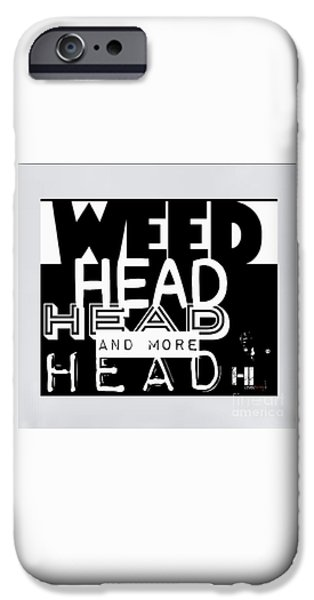 Cities Tapestries - Textiles iPhone Cases - Weed Head iPhone Case by HI Level