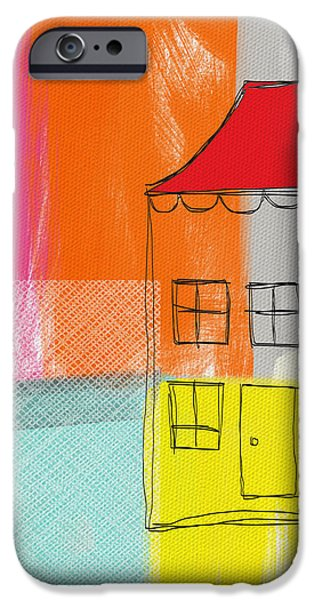 """""""abstract Landscape"""" iPhone Cases - Weekend Escape iPhone Case by Linda Woods"""