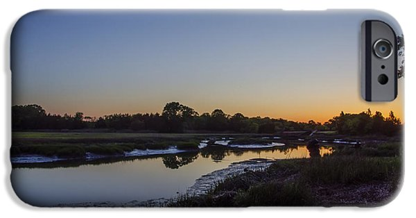 Tidal Creek iPhone Cases - Weeks Landing at Sunrise iPhone Case by Bill Cannon
