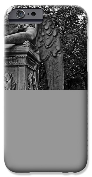 Plants Sculptures iPhone Cases - Weeping Angel iPhone Case by Nathan Little