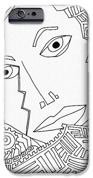Weeping Drawings iPhone Cases - Weeping Woman iPhone Case by Sarah Loft