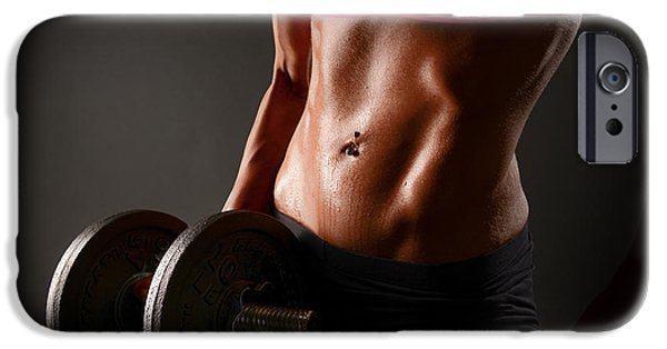 Toning iPhone Cases - Weights and Abs iPhone Case by Jt PhotoDesign