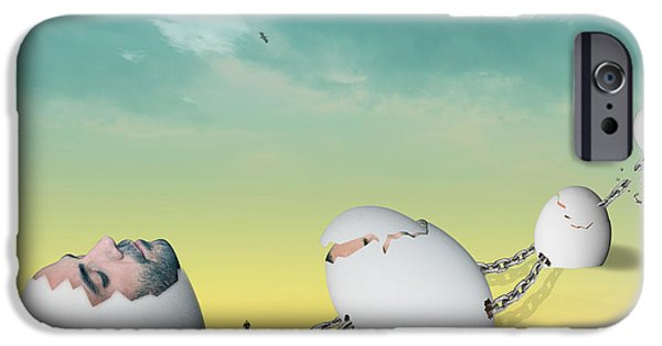 Surrealism Digital iPhone Cases - Weird Dream iPhone Case by Mark Ashkenazi