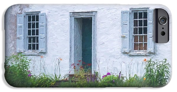 Facade iPhone Cases - Welcome Home Old Door and Windows iPhone Case by Terry DeLuco