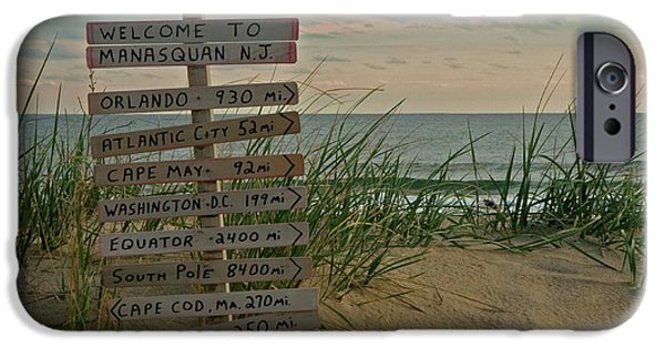Signs iPhone Cases - Welcome to Manasquan iPhone Case by Robert Pilkington