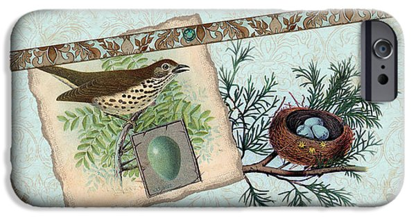 Robin iPhone Cases - Welcome to our Nest iPhone Case by Audrey Jeanne Roberts