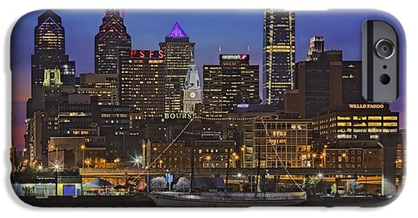 United States iPhone Cases - Welcome To Penns Landing iPhone Case by Susan Candelario
