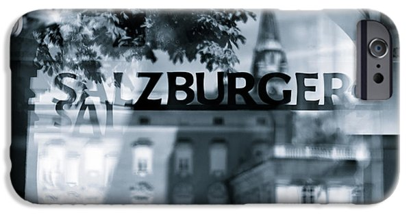 Town iPhone Cases - Welcome to Salzburg iPhone Case by Dave Bowman