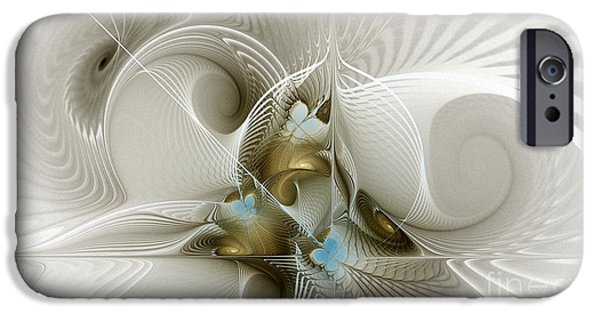 Three Sizes iPhone Cases - Welcome to the Second Floor-Fractal Art iPhone Case by Karin Kuhlmann