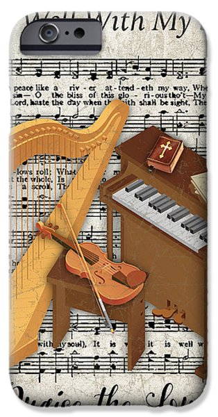 Piano iPhone Cases - Well With My Soul-JP3514 iPhone Case by Jean Plout