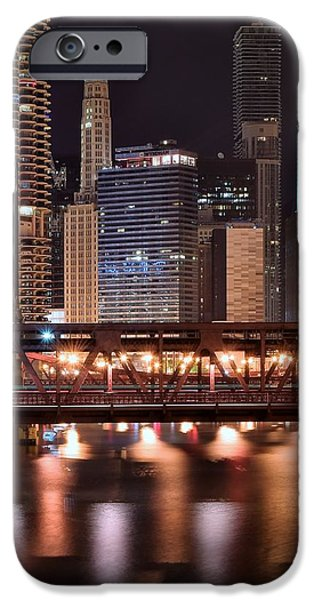 Chicago Cubs iPhone Cases - Wells Street Bridge iPhone Case by Frozen in Time Fine Art Photography