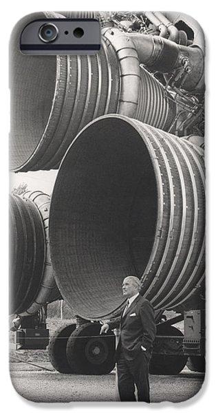 F 1 iPhone Cases - Wernher Von Braun, Rocket Pioneer iPhone Case by NASA / Science Source