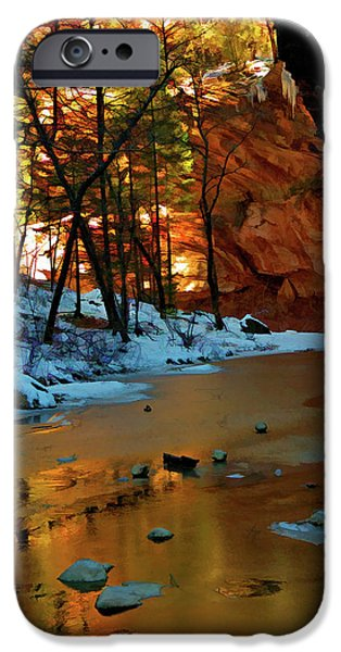Oak Creek iPhone Cases - West Fork 07-044 iPhone Case by Scott McAllister