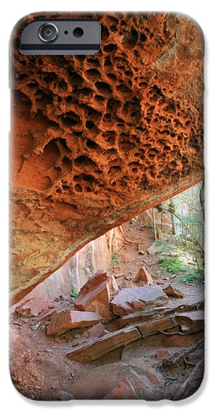 West Fork Photographs iPhone Cases - West Fork Trail Cave iPhone Case by Ellen Henneke