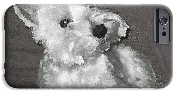 Westie Digital iPhone Cases - West Highland White Terrier iPhone Case by Charmaine Zoe