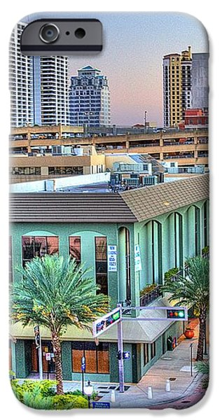 West Palm at Twilight iPhone Case by Debra and Dave Vanderlaan
