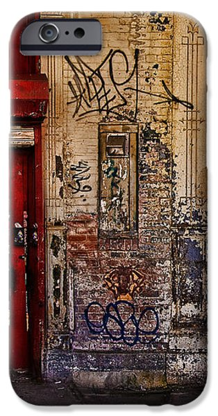 West Village Wall NYC iPhone Case by Chris Lord