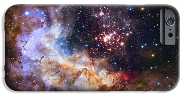 Recently Sold -  - Nature Study iPhone Cases - Westerlund 2 - Hubble 25th Anniversary Image iPhone Case by Adam Romanowicz