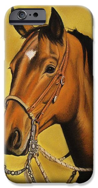 Horse Bit iPhone Cases - Western horse iPhone Case by Lucy Deane