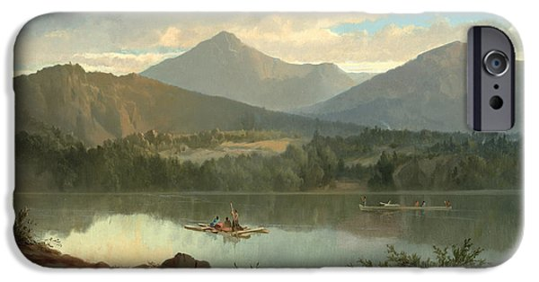 Hill iPhone Cases - Western Landscape iPhone Case by John Mix Stanley