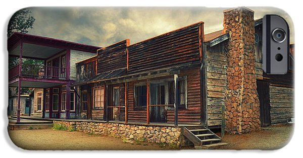 Town iPhone Cases - Western Town - Paramount Ranch iPhone Case by Glenn McCarthy Art and Photography