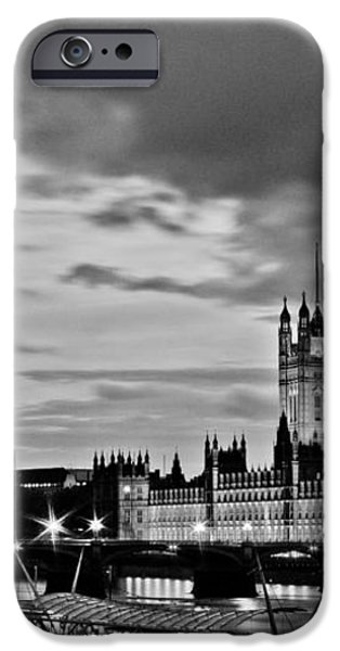 Westminster black and white iPhone Case by Dawn OConnor
