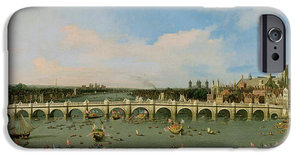 Houses Of Parliament iPhone Cases - Westminster Bridge - London iPhone Case by Giovanni Antonio Canaletto
