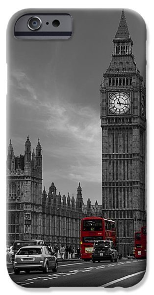 Bus Photographs iPhone Cases - Westminster Bridge iPhone Case by Martin Newman