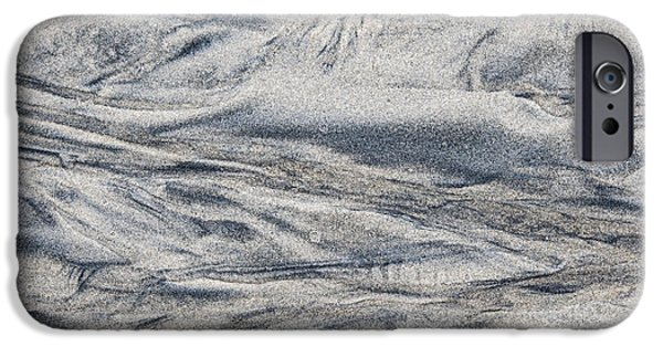 Sand Patterns iPhone Cases - Wet sand abstract I iPhone Case by Elena Elisseeva