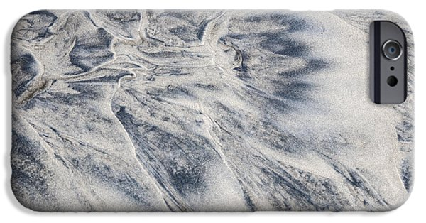 Sand Patterns iPhone Cases - Wet sand abstract II iPhone Case by Elena Elisseeva