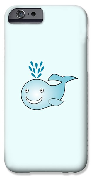 Little iPhone Cases - Whale - Animals - Art for Kids iPhone Case by Anastasiya Malakhova