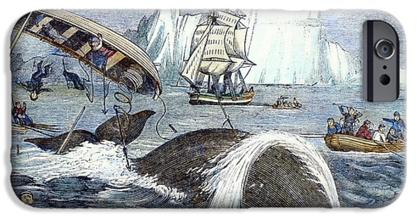 1833 Photographs iPhone Cases - Whaling, 1833 iPhone Case by Granger