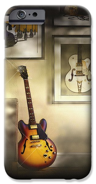 Michael iPhone Cases - What defines a vintage guitar iPhone Case by Don Kuing
