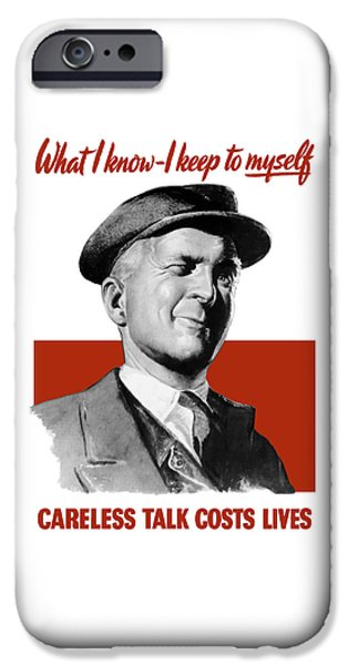 Lips Mixed Media iPhone Cases - What I Know I Keep To Myself iPhone Case by War Is Hell Store