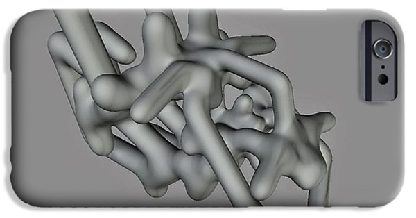 Abstract Digital Sculptures iPhone Cases - What Were You Thinking ? iPhone Case by Gina Seymour