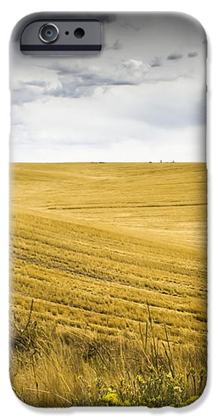 Wheat Fields With Storm iPhone Case by John Trax