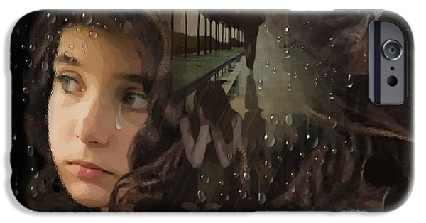 Raining iPhone Cases - When Daddy Leaves iPhone Case by Joseph Juvenal