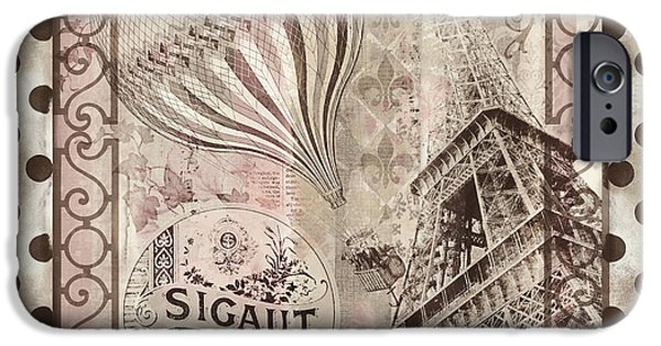 Hot Air Balloon iPhone Cases - When in Paris iPhone Case by Mindy Sommers