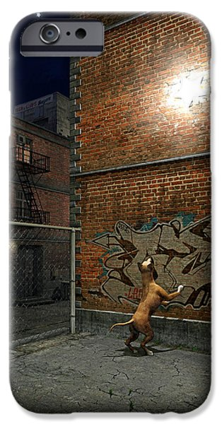 Boxer Digital iPhone Cases - When Stars Fall in the City iPhone Case by Cynthia Decker