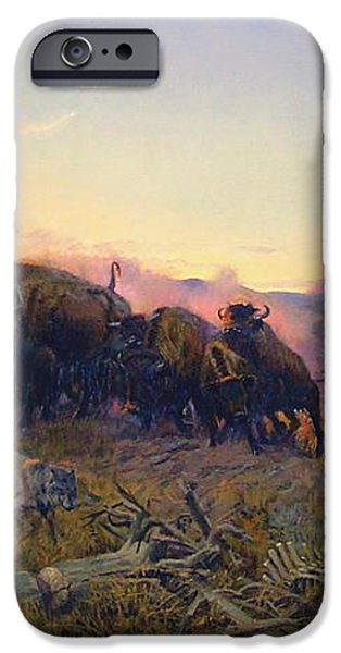 When The Land Belonged To God iPhone Case by Charles Russell