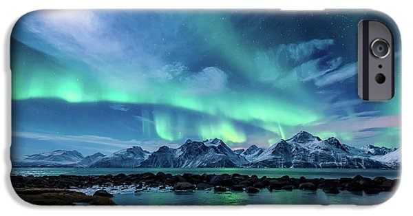 Winter iPhone Cases - When the moon shines iPhone Case by Tor-Ivar Naess