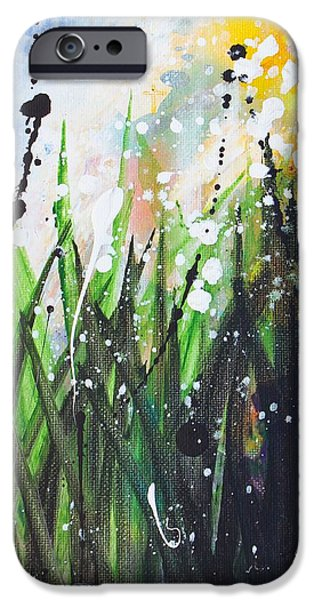 Raining iPhone Cases - When the Rain is Gone #3 iPhone Case by Kume Bryant