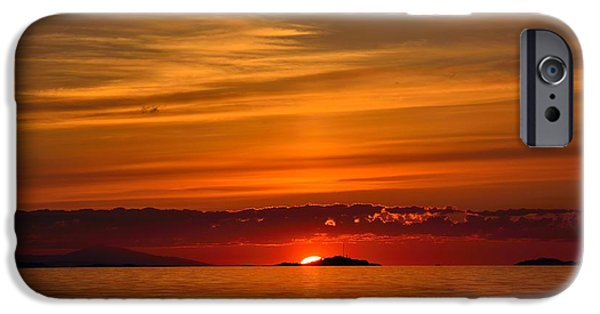 Ocean Sunset iPhone Cases - When the Sky is the Limit iPhone Case by Elmar Langle