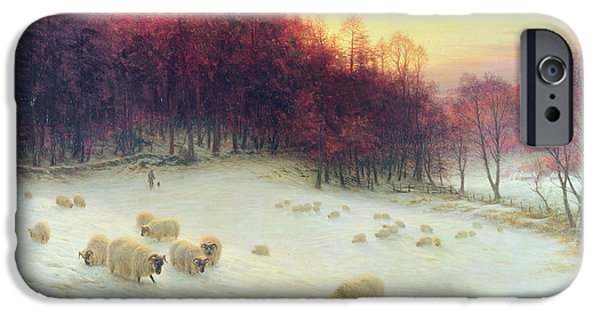 Farmland iPhone Cases - When the West with Evening Glows iPhone Case by Joseph Farquharson