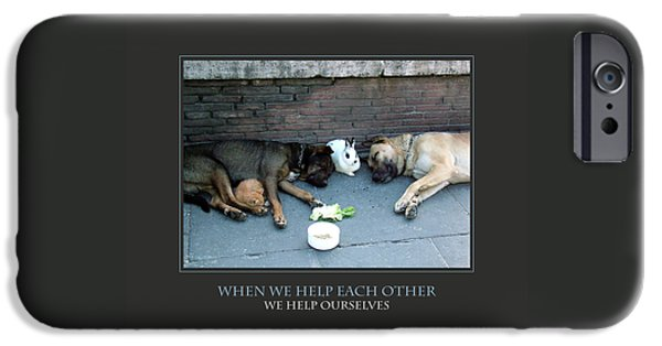 Affirmation iPhone Cases - When We Help Each Other iPhone Case by Donna Corless