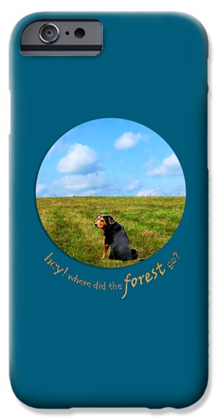 Buy Dog Digital iPhone Cases - Where Did The Forest Go iPhone Case by Christina Rollo