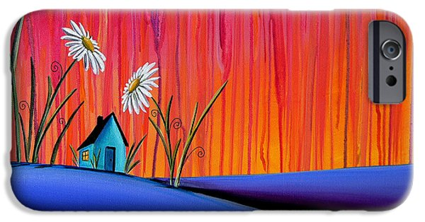 Whimsy Paintings iPhone Cases - Where Flowers Bloom iPhone Case by Cindy Thornton