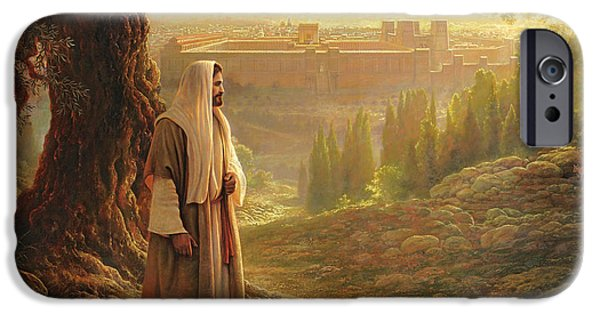 Religious Art iPhone Cases - Wherever He Leads Me iPhone Case by Greg Olsen