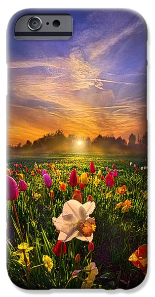Morning iPhone Cases - Wherever The Journey Takes Us iPhone Case by Phil Koch