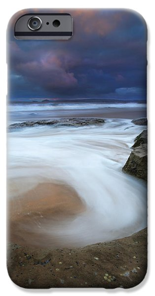 Knights Beach iPhone Cases - Whirlpool Dawn iPhone Case by Mike  Dawson
